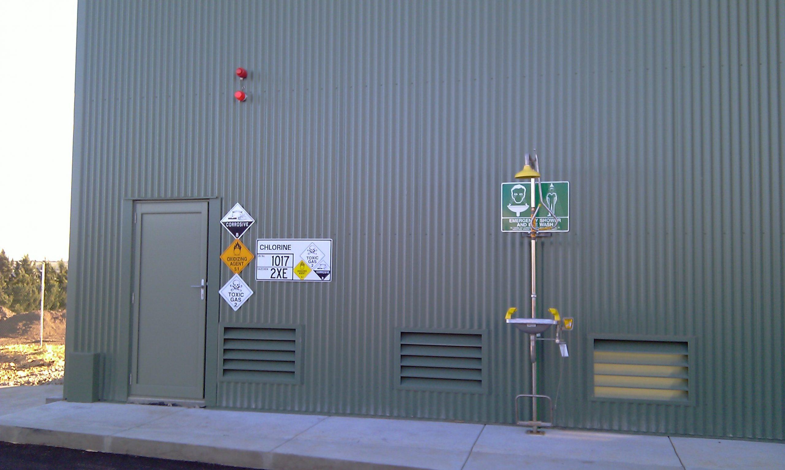 Woodglen WTP - Chlorine Room and Safety Shower