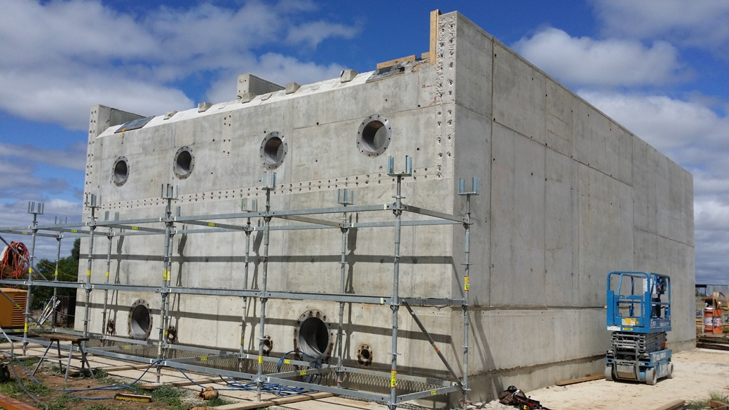 Numurkah WTP - 10MLD DAFF Water Retaining Structure Under Construction