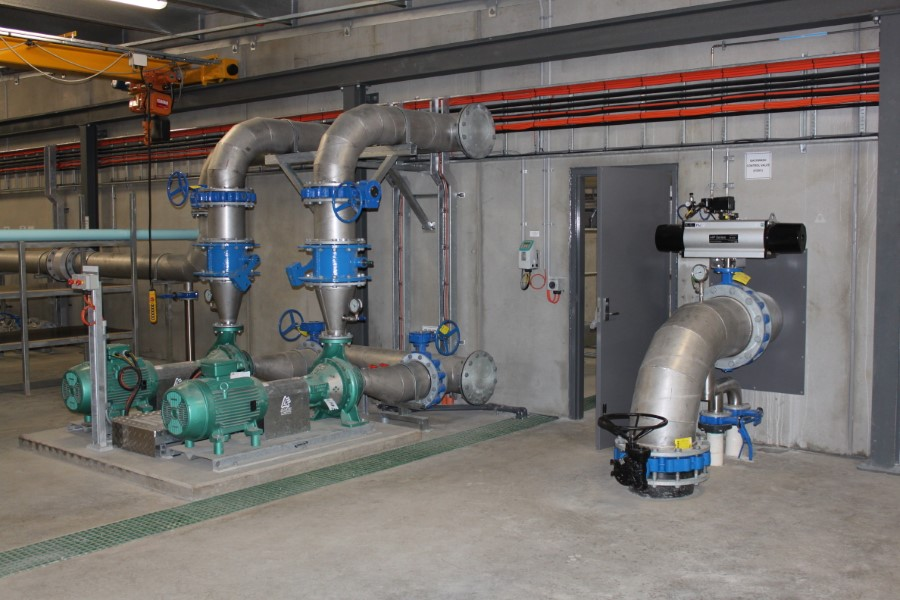 Freeburgh WTP - Filtered Water Pumps and Backwash Supply to DAFFs