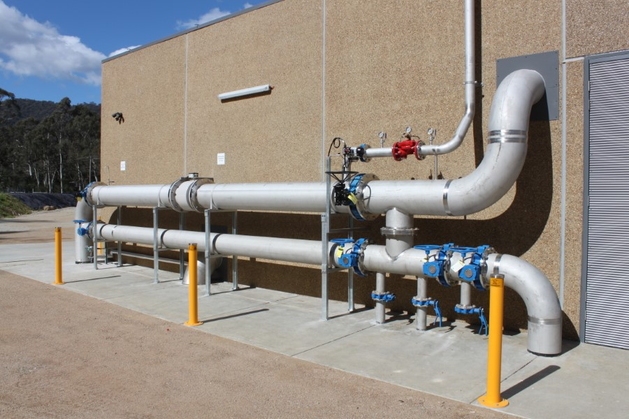 Freeburgh WTP - Discharge Pipework to Town Reticulation