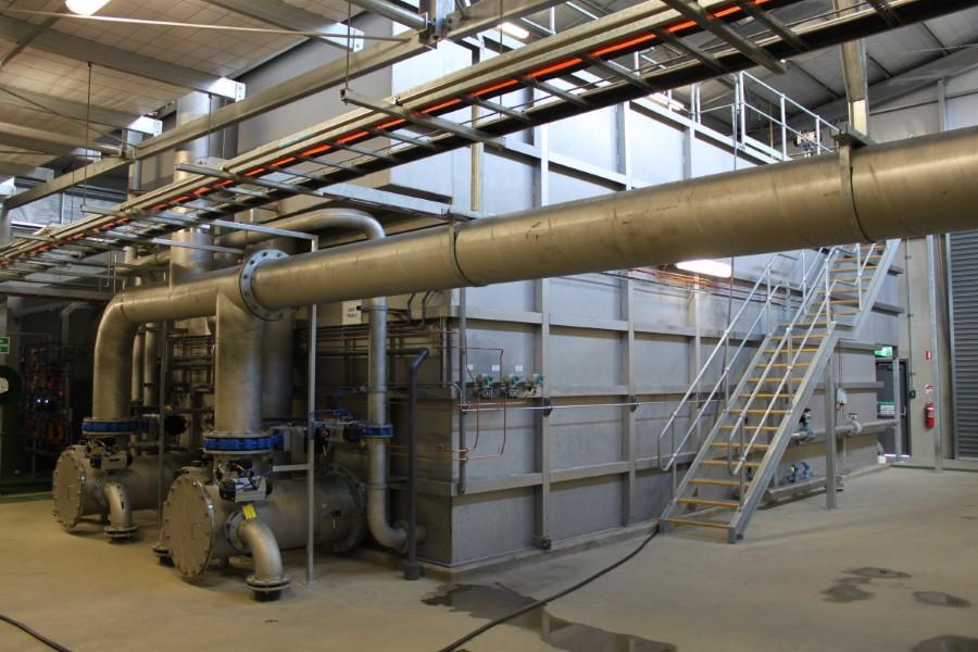 Freeburgh WTP DAFF Trains and Feedwater Manifolds