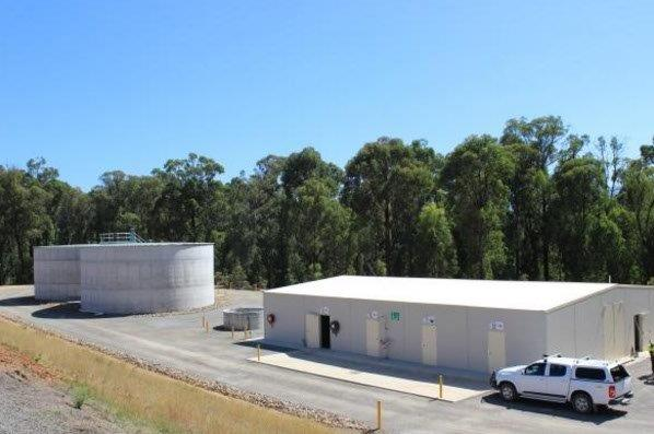 Marysville WTP - Treatment Building and Clearwater Tanks