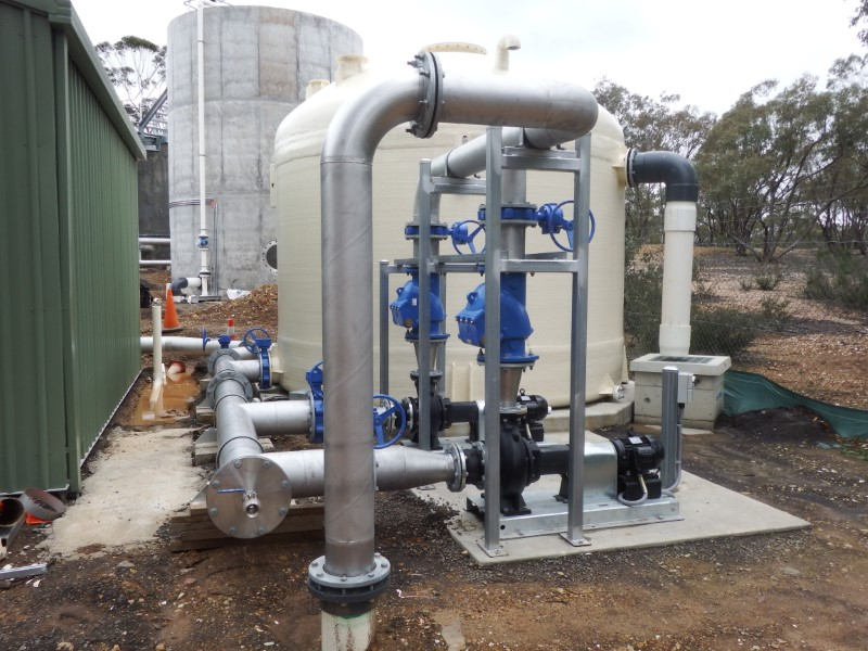 Laanecoorie WTP Reflift Pumps and Chlorine Contact Tank Clarifer