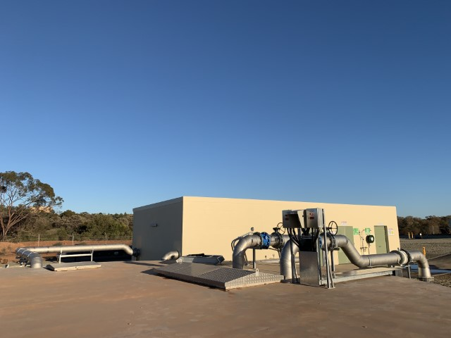 Cobar WTP - Treated Water Building and In ground Tank Top