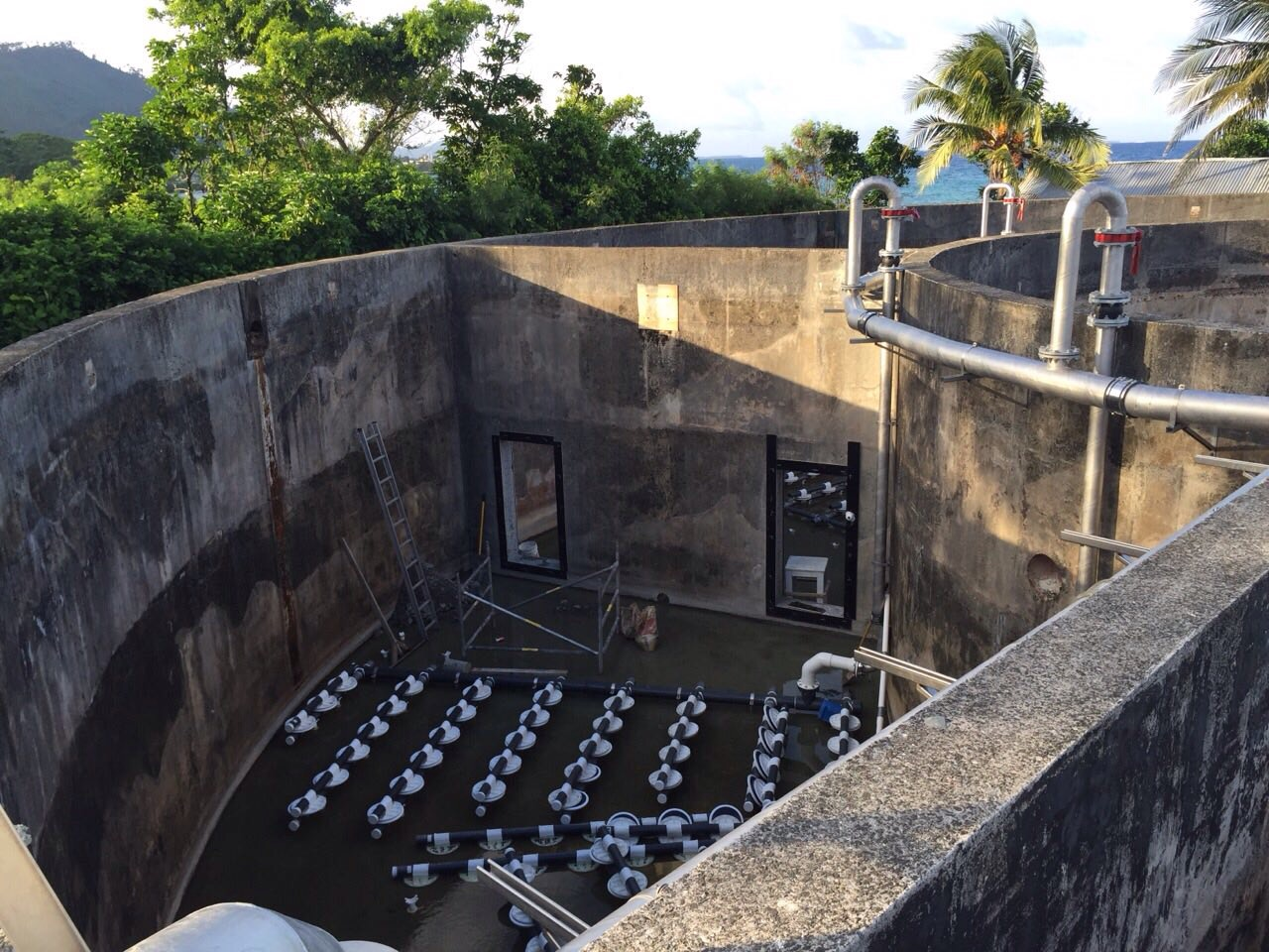 Weno WWTP Upgrade - Air Diffuser System Under Construction