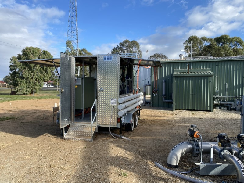 Mobile PAC Dosing Trailer - Open for Business