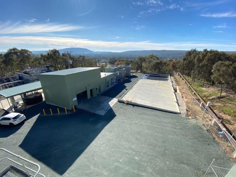 Heathcote WTP Upgrade - PAC Dosing Building and GEOBAG Laydown Area Aerial